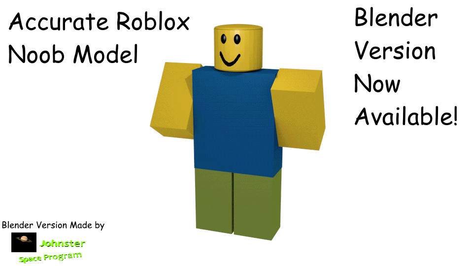 Accurate Roblox Noob Model For Anim8or 3d Models