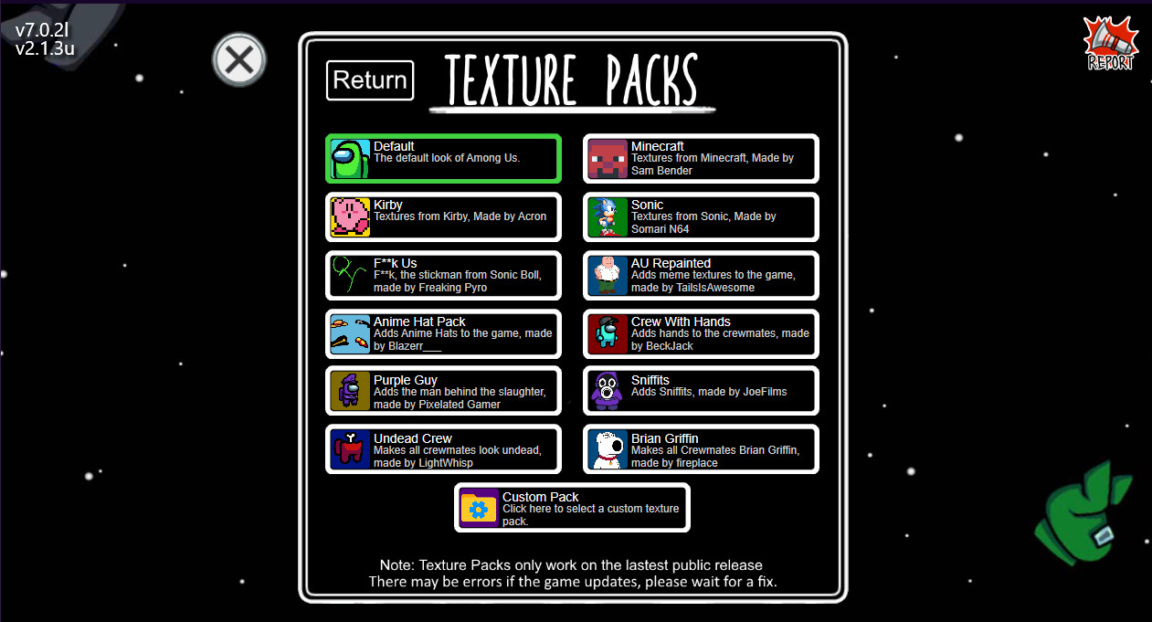 How To Make Texture Mods For The Among Us Launcher Among Us Tutorials