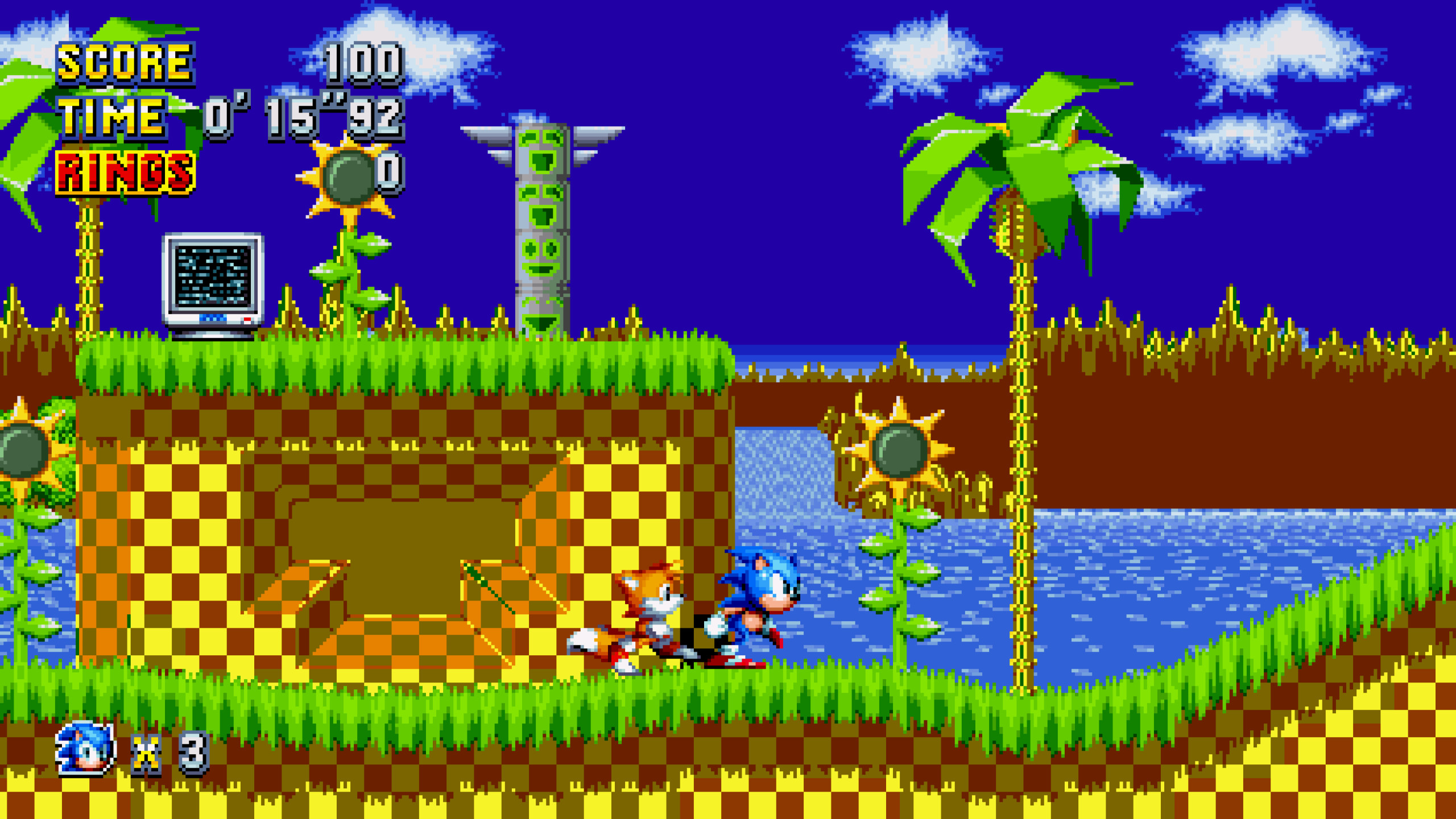 Green Hill Zone Good And Bad Future Sonic Mania Works In Progress